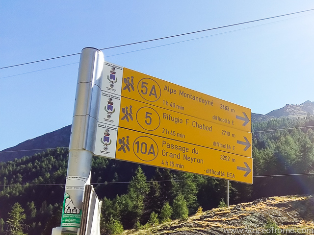 Szlaki w Parku Narodowym Gran Paradiso i nasz, prowadzący do Schroniska Chabod