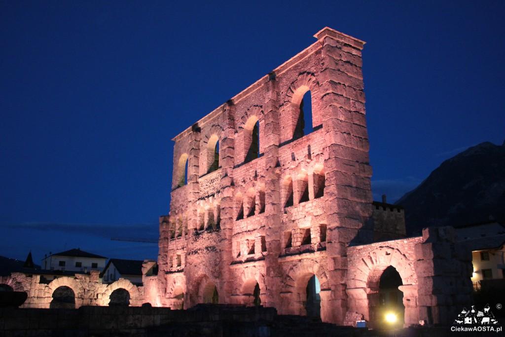 Teatr rzymski w Aoście. Jeden z piękniejszych zabytków. A wieczorem najbardziej romantyczny ;-).
