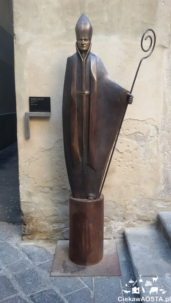 Pomnik San Grato, Patrona Aosty.