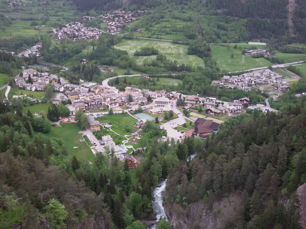 Widok na termy w Pré-Saint-Didider. Zdaniem Gianluca termy to idealne miejsce na relaks.