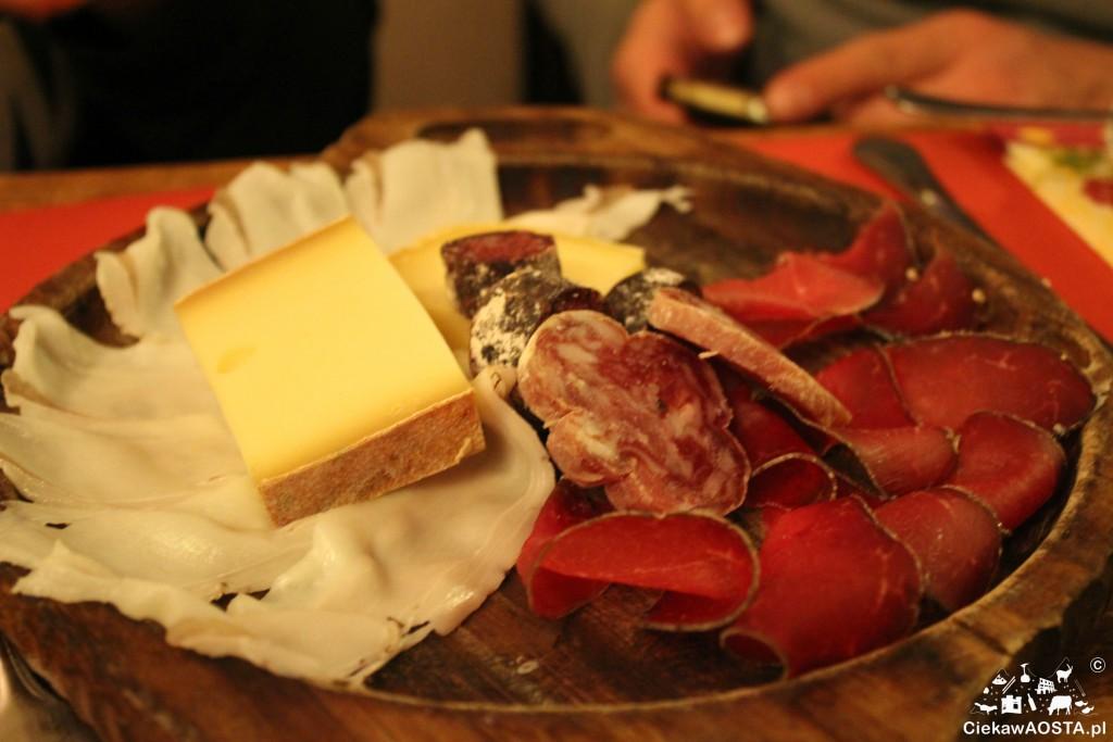 Talerz przysmaków z Osteria dell'Oca.