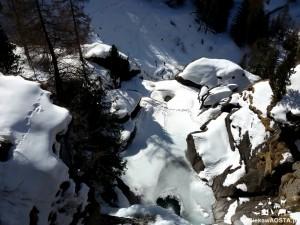 Wodospady w Lillaz zimą