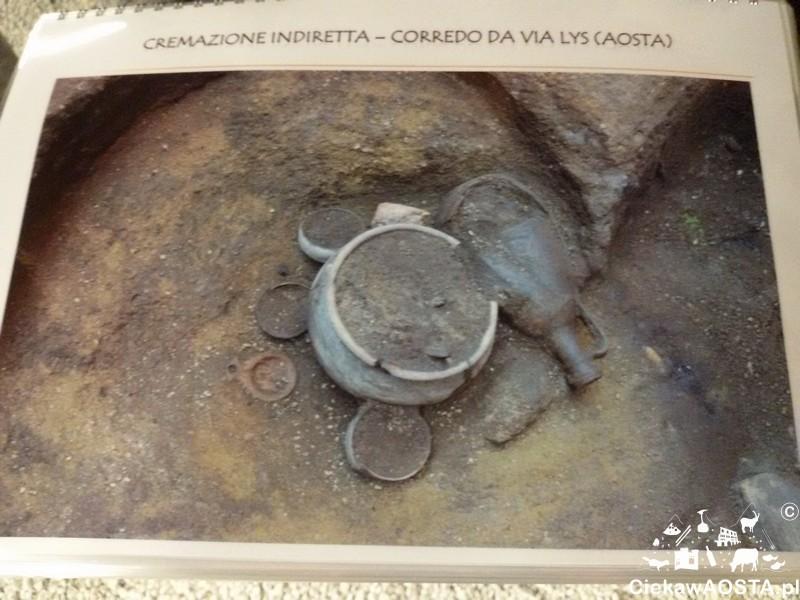 Przedmioty znalezione w grobach rzymskich.