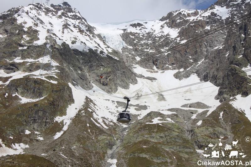 Kolejka Skyway po włoskiej stronie jest jedną z najczęściej wybieranych atrakcji przez turystów. To nie dziwi! W niecałe 20 minut zabiera w samo serce asywu Mont Blanc.