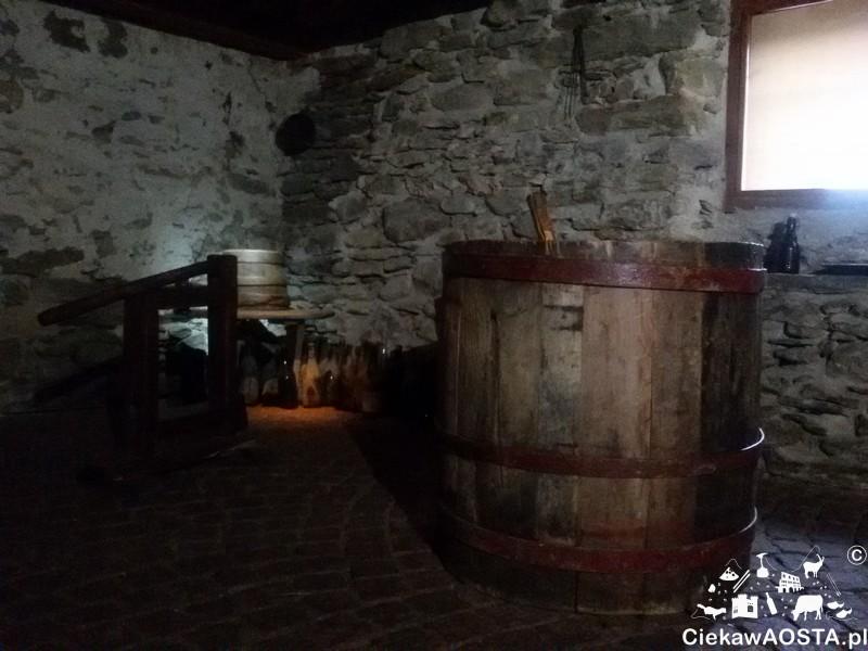 Pomieszczenie w którym wyrabiano wino.