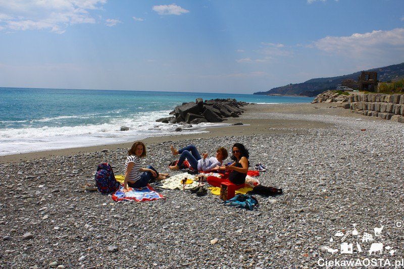 Piknik na plaży.
