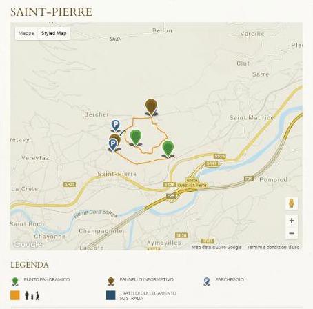 Szlak w Saint-Pierre. Zdjęcie ze strony projektu Vignes et terroirs.