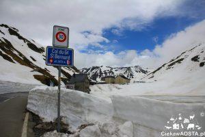 Wielka Przełęcz Świętego Bernarda na wysokości 2464 m n.p.m., 4 czerwca!