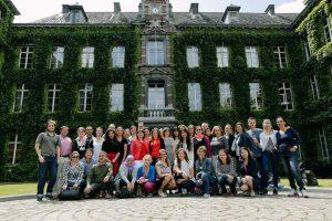 Uczestnicy stażu w Mons, w Belgii.