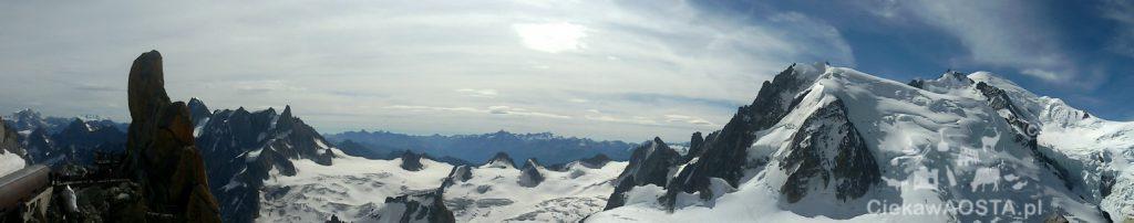 Panorama na Alpy! Przepięknie!