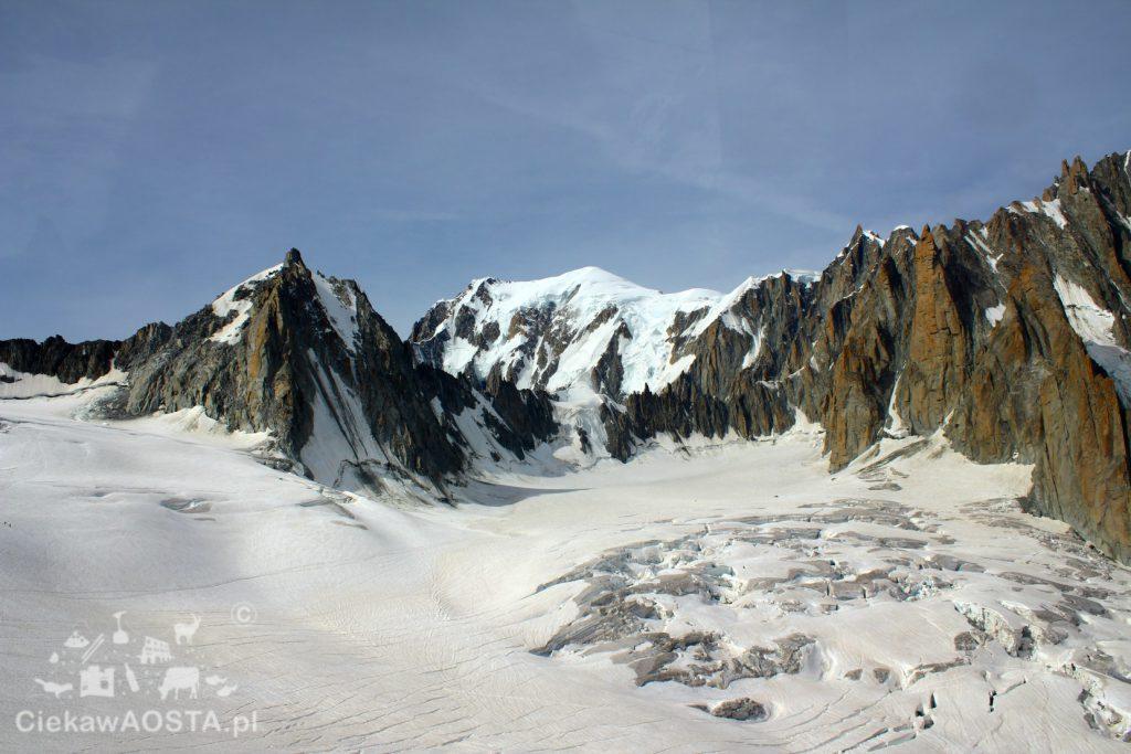 Alpy widziane z kolejki Panoramic Mont Blanc