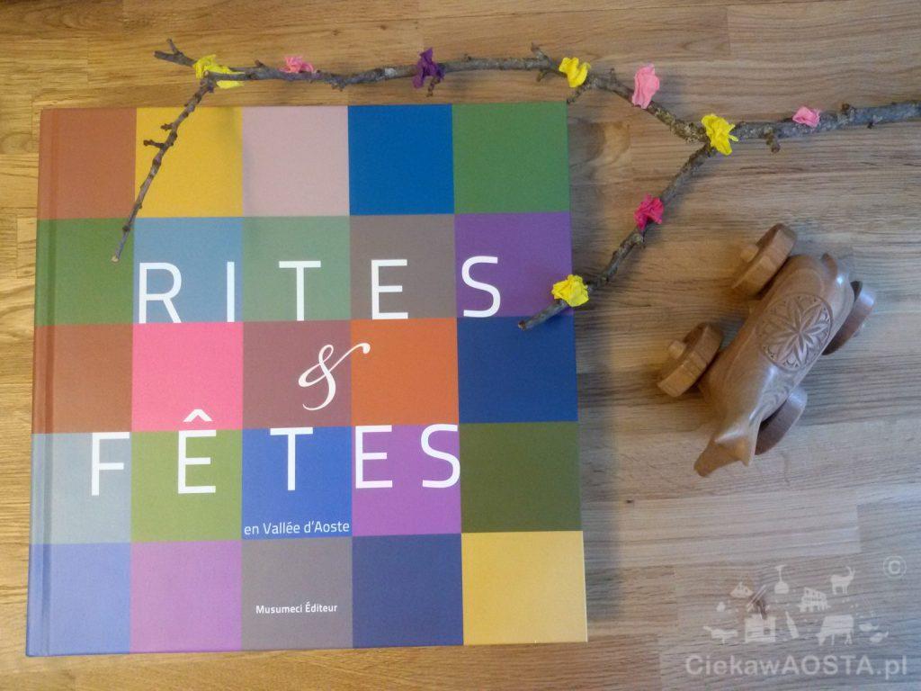 Album - przewodnik po lokalnych tradycjach i obrzędach wydany w języku francuskim.