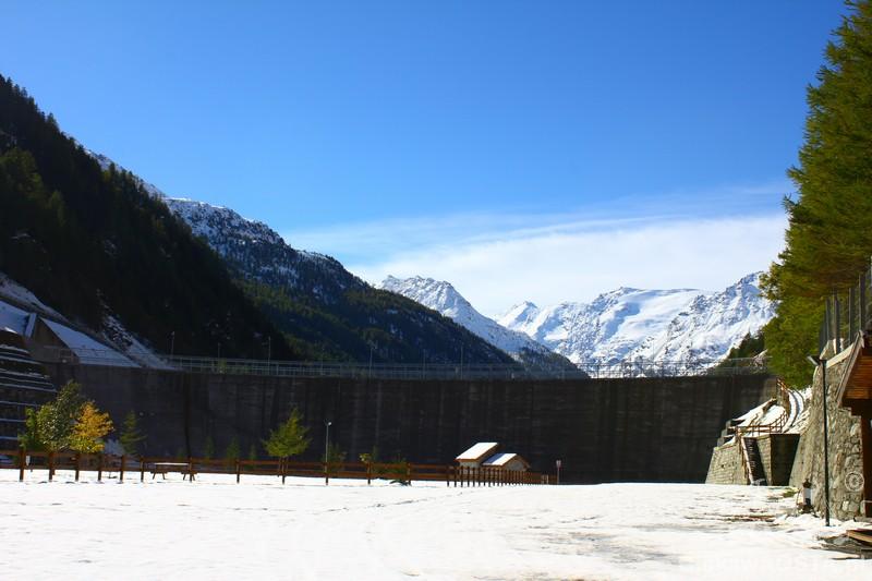 Zaporę w Valgrisenche obniżono o 52 metry!