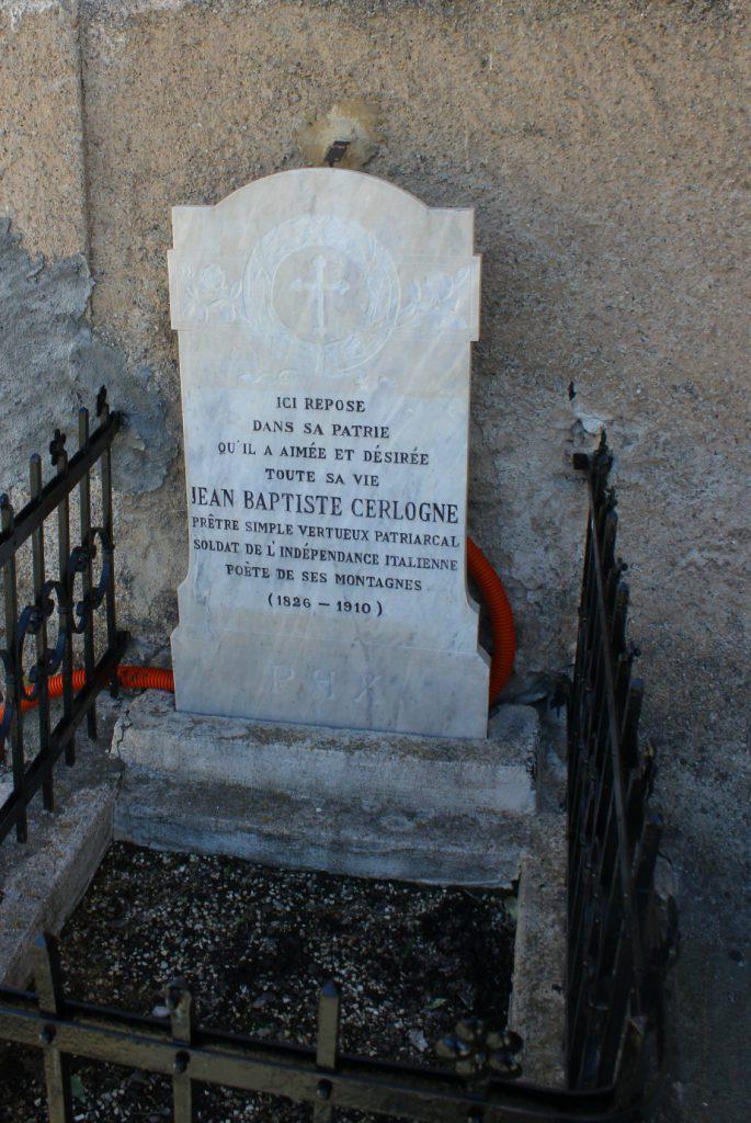Pomnik Jean Baptiste Cerlogne w Saint-Nicolas.