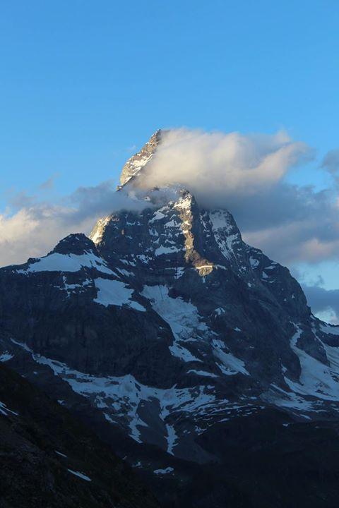 Matterhorn w chmurach