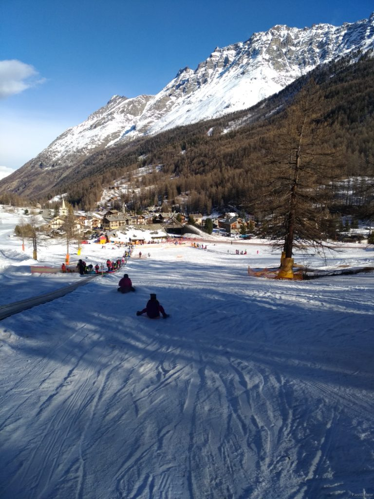 Snowpark w Rhemes-Notre-Dames