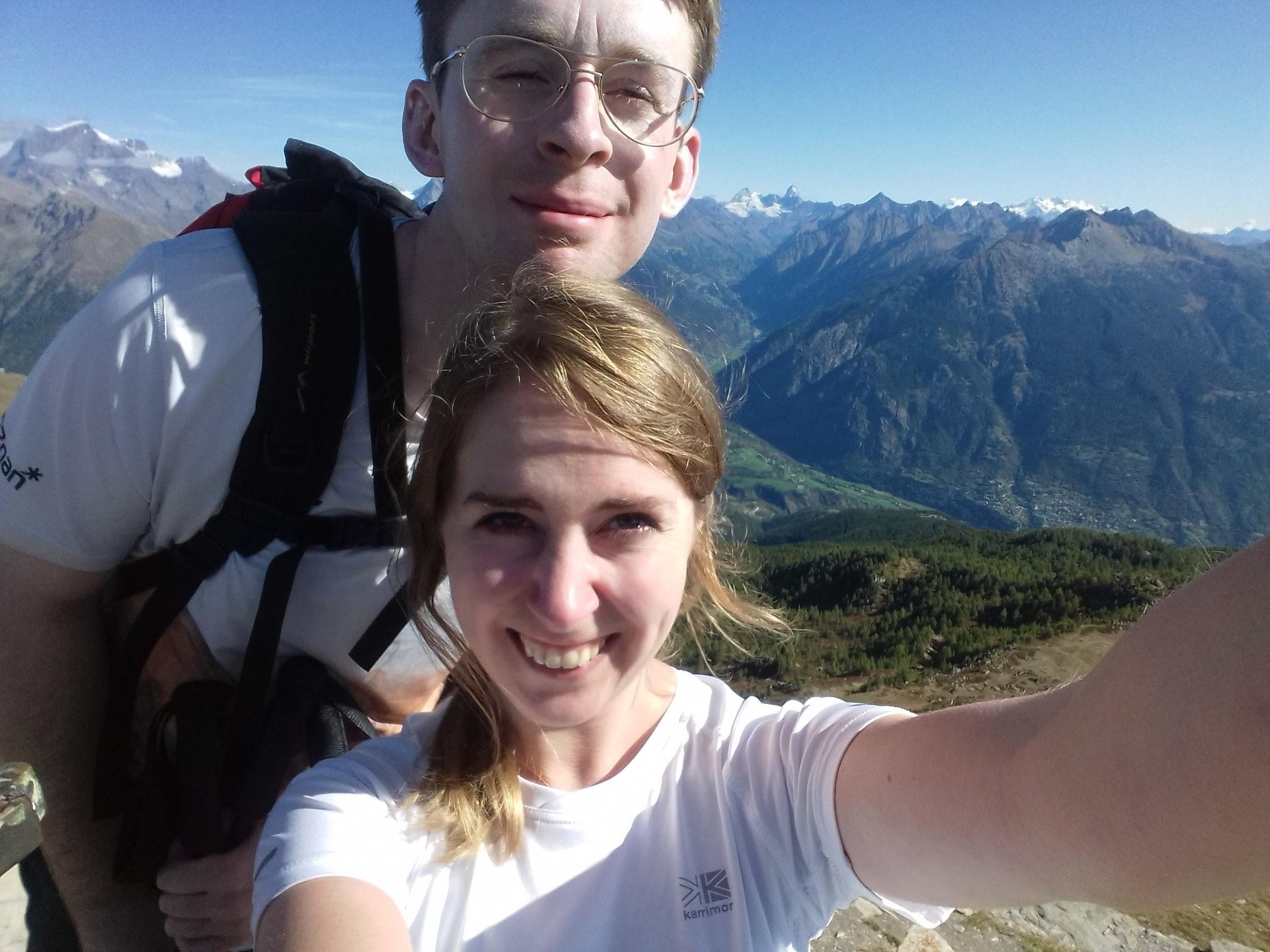 Ze szczytu Point Chaligne