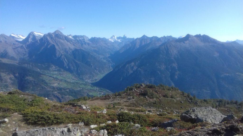 Widok ze szczytu Point Chaligne
